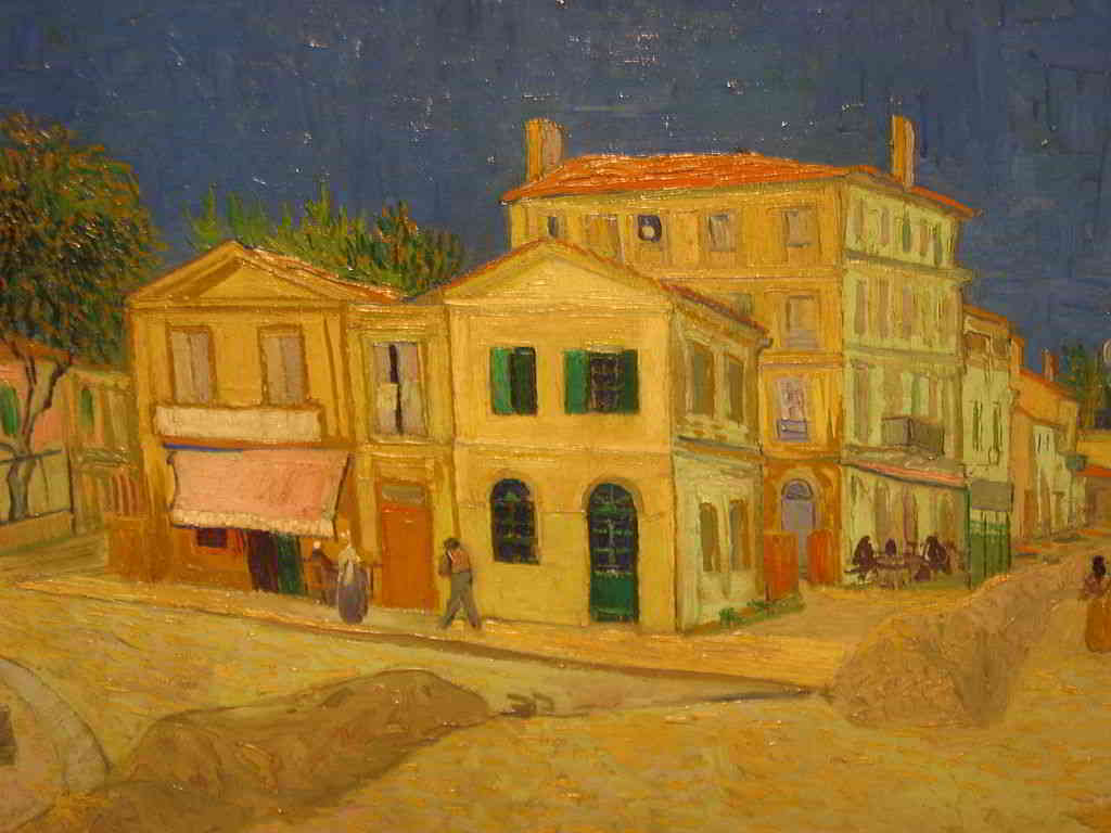 """""""The Yellow House"""" painted by Van Gogh in Arles"""