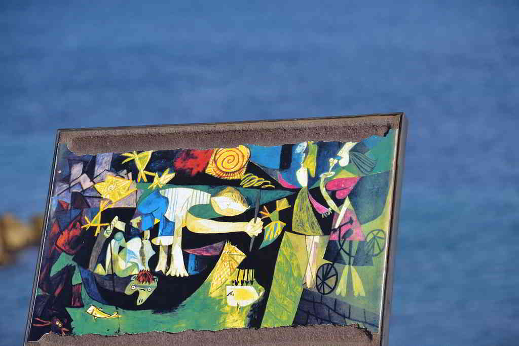 One of Picasso's art pieces displayed in Antibes