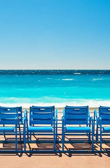 nice blue chairs