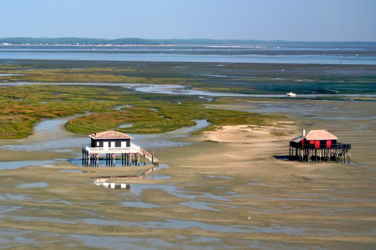 The fishermen cabanes in Bassin d'Arcachon
