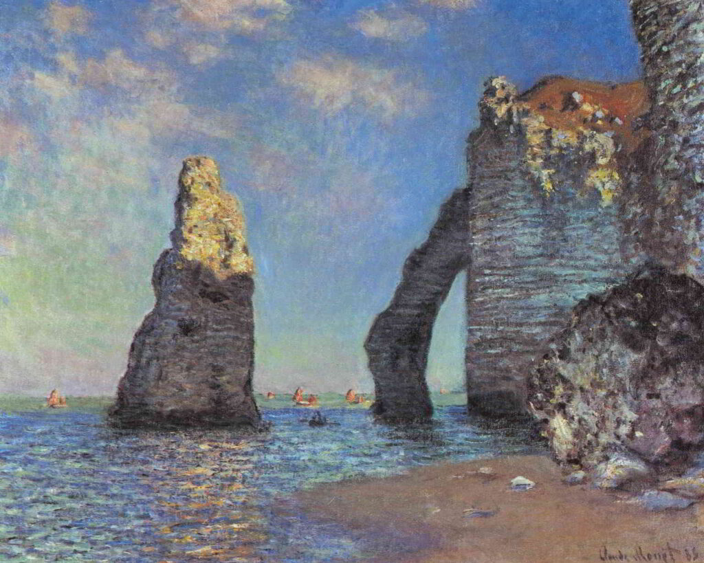 Monet's painting of the Cliffs at Etretat