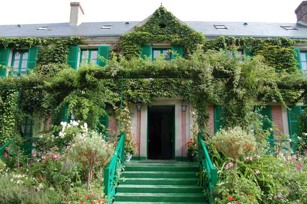Claude Monet house in Giverny Gardens