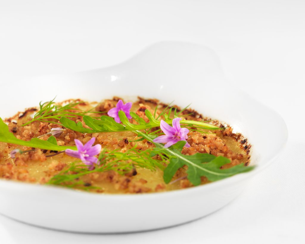 A Plate from the Arpege restaurant of chef Alain Passard ©Thomas Collin