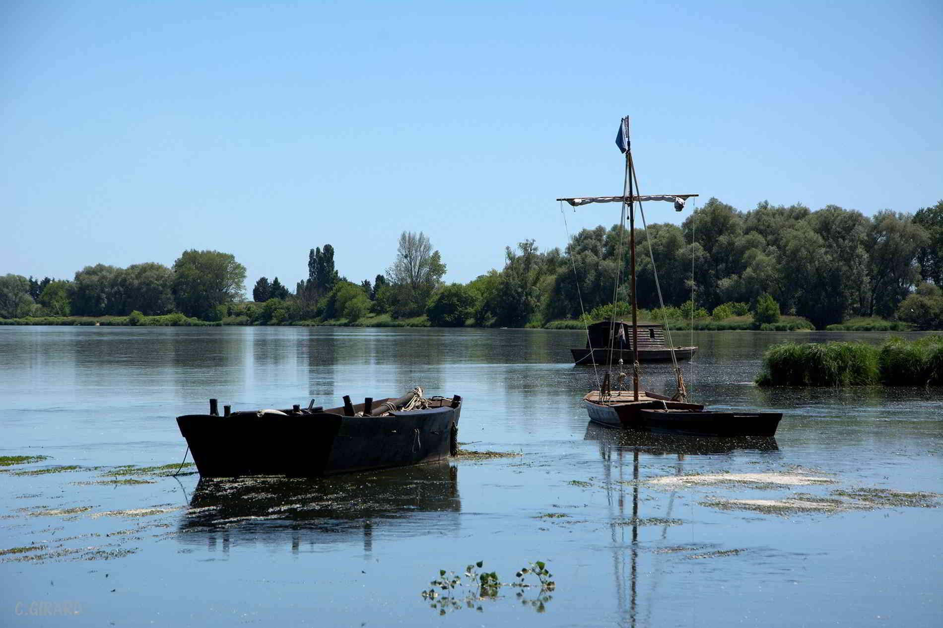 Loire valley river boat