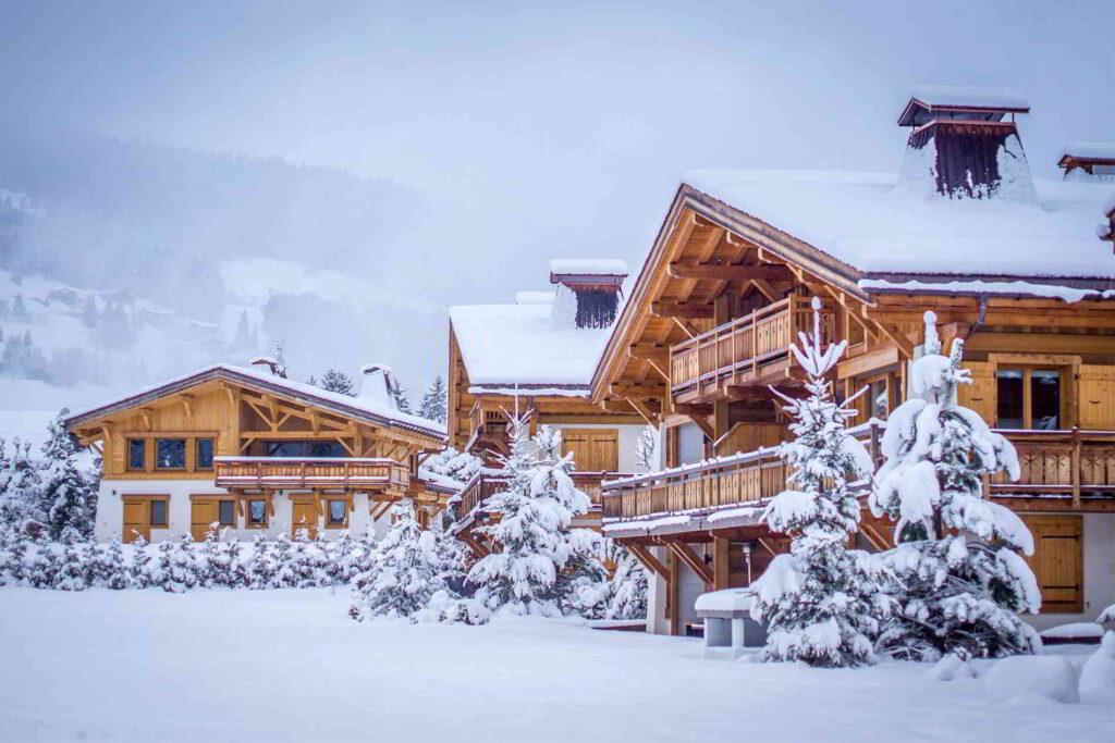 megeve chalet neige alpes