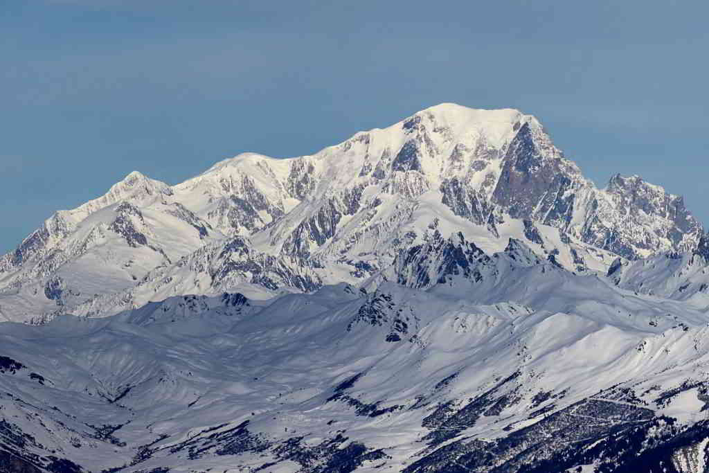 View on the Eternal Snows of the Mont Blanc