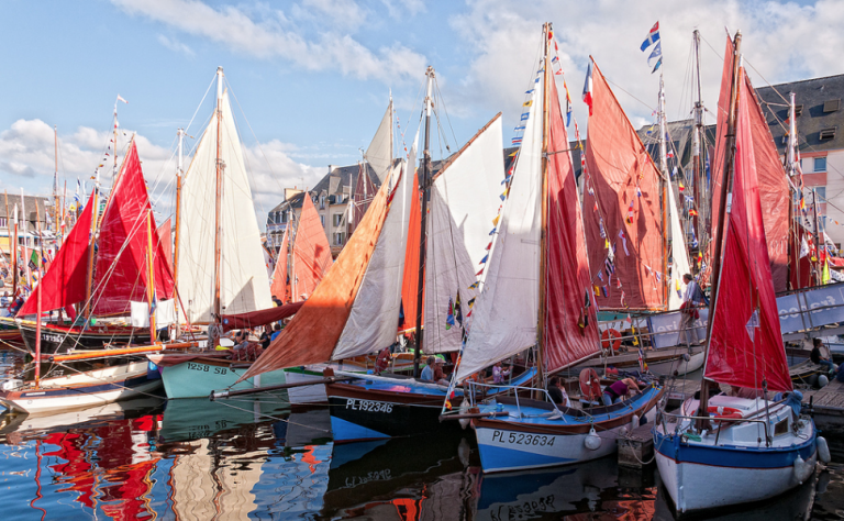 Paimpol during the Festival of Sea Songs