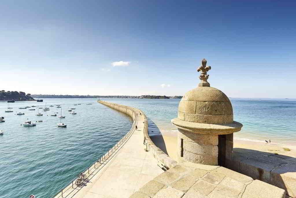 The pier of the Grand Mole in Saint-Malo