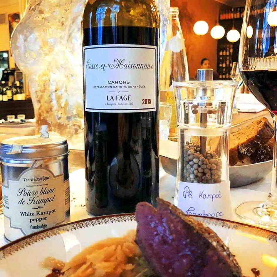 Cahors wine to accompany a meal