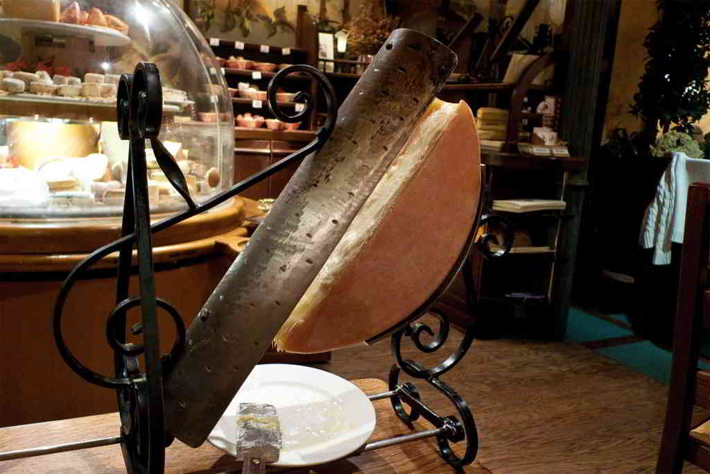 Typical French raclette cheese