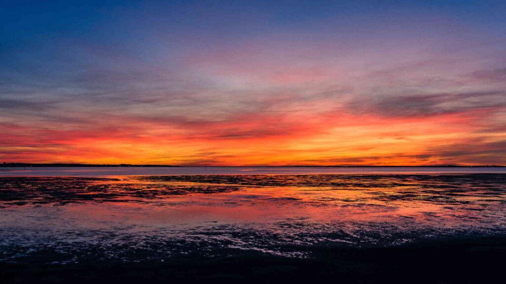 Sunset in Arcachon Bay