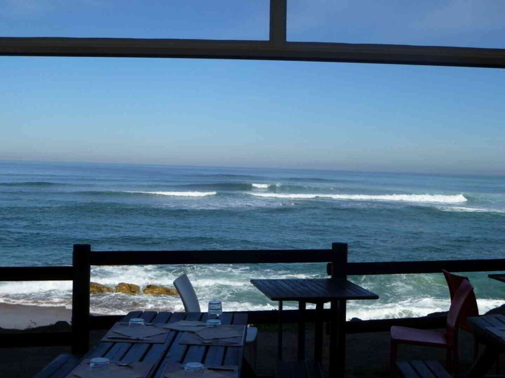 Seaside restaurant view