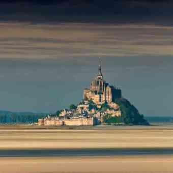 Distant view of the Mont Saint-Michel