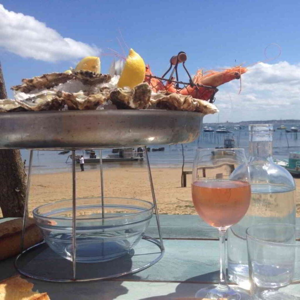 Oyster tasting at Cap Ferret