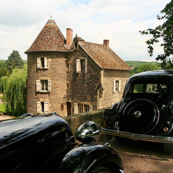 voitures vintage chateau
