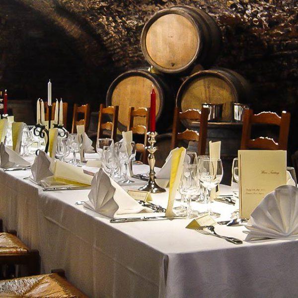 wine cellar chic dinner table atmosphere