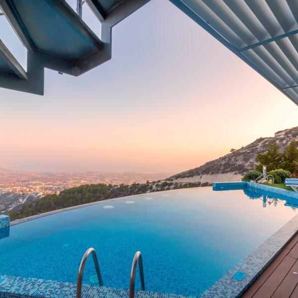 villa infinite pool france sea view sunset