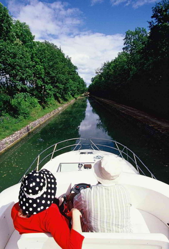 Cruising on a private barge
