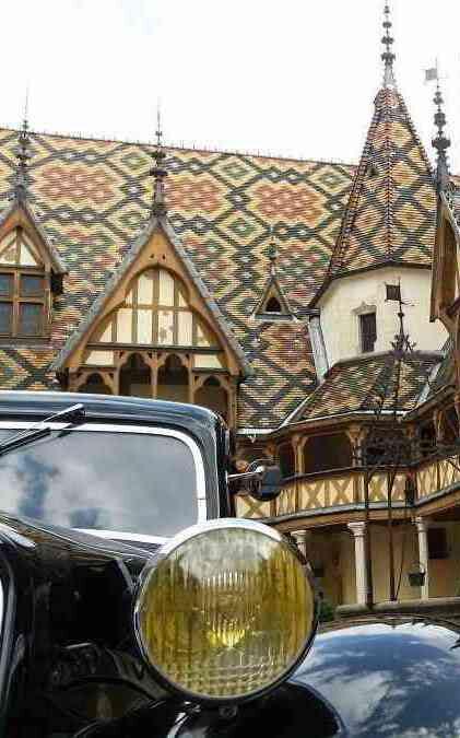 hospices de beaune vintage car 2cv