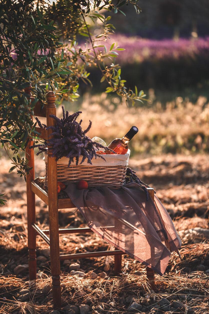 pique-nique provence lavande et vin rose valensole