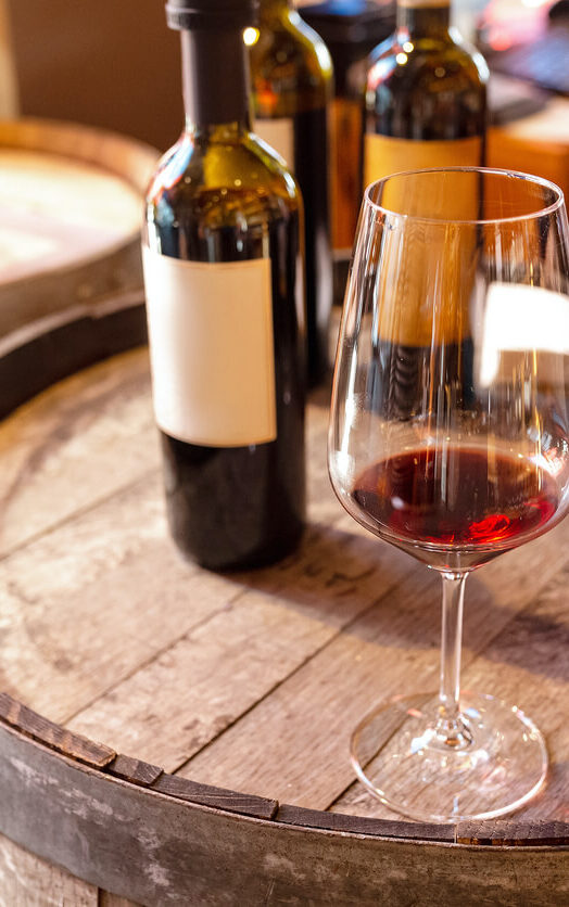 burgundy red wine glass tastings barrel