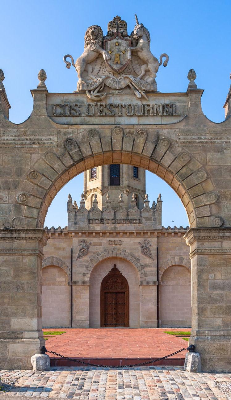 chateau cos destournel gate entrance