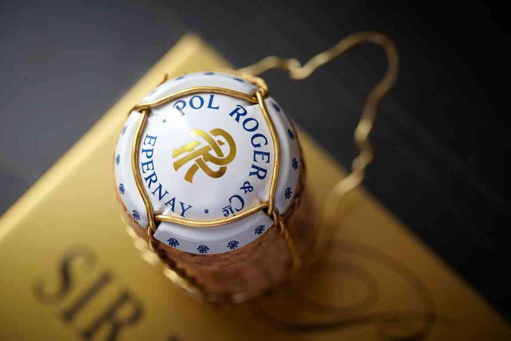 Champagne Pol Roger cork