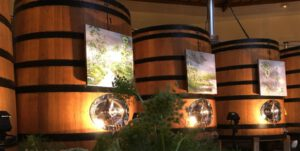 decorative wine barrels art