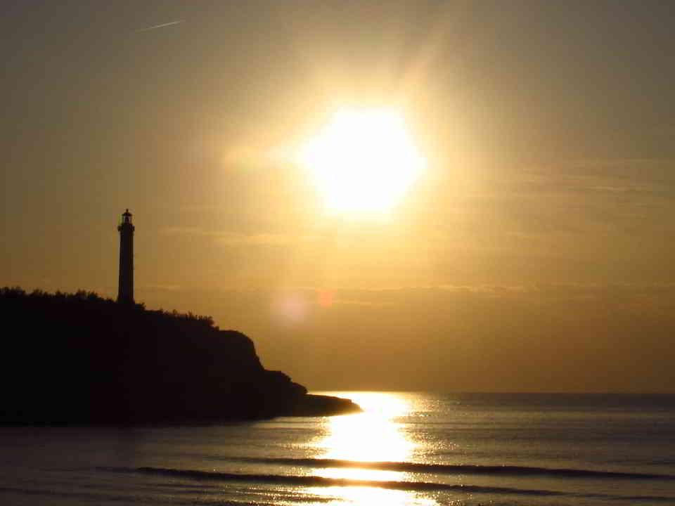 A Beautiful Sunset in Biarritz