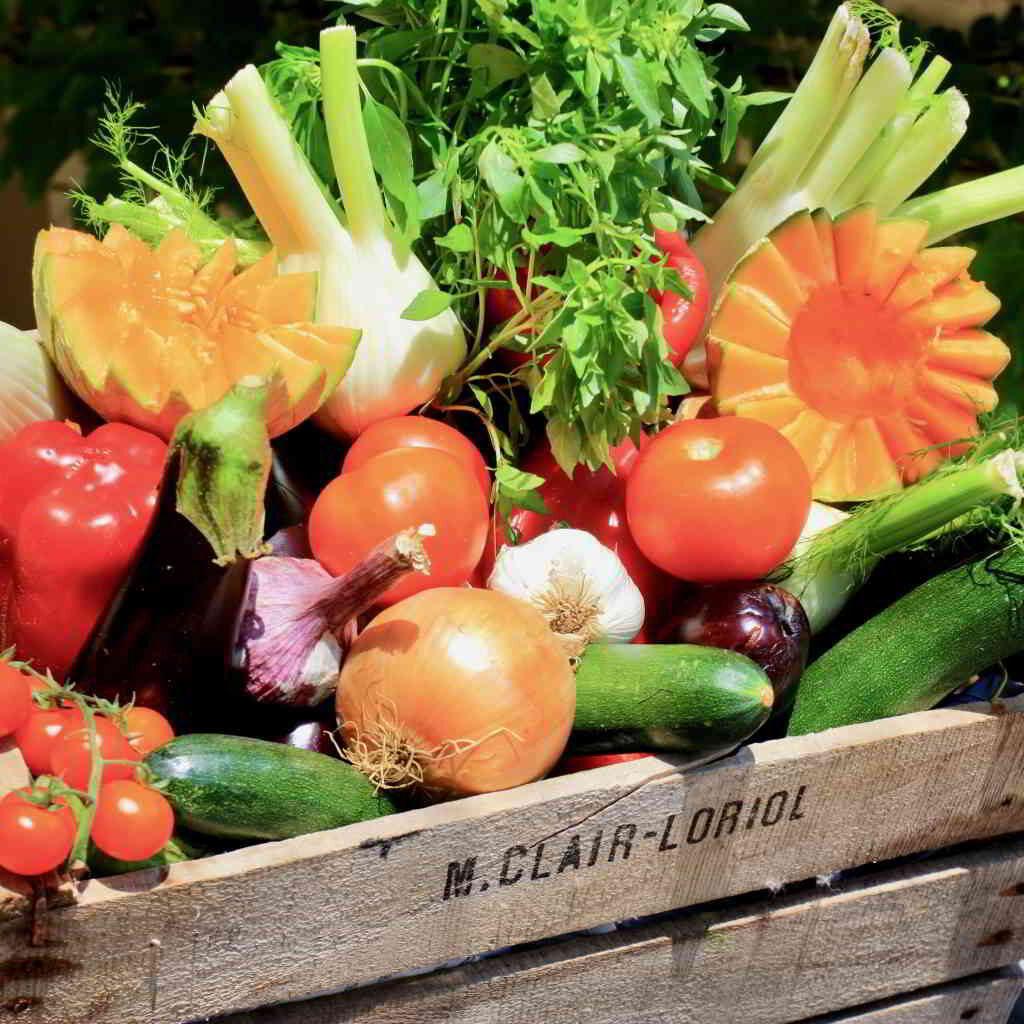 Fresh vegetables on a Provencal market