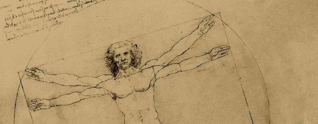 Vitruvian Man by Leonard de Vinci