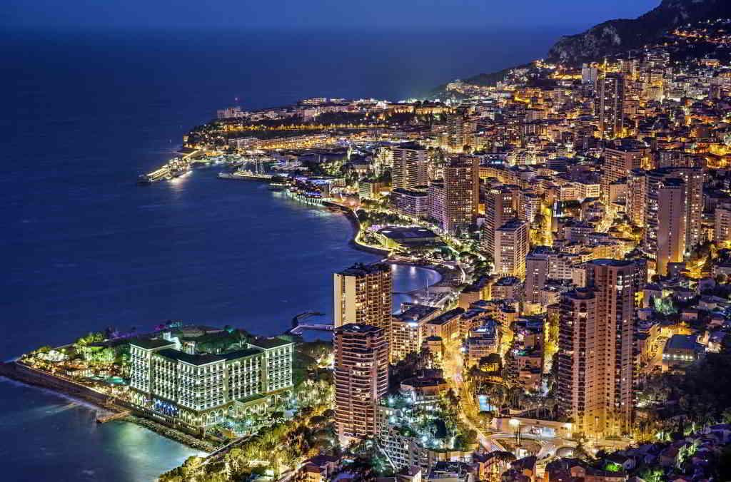 Night in Monaco, French Riviera