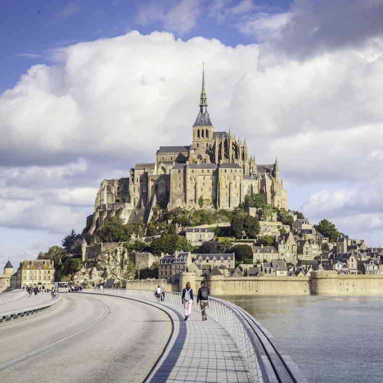 On the way to Mont Saint-Michel