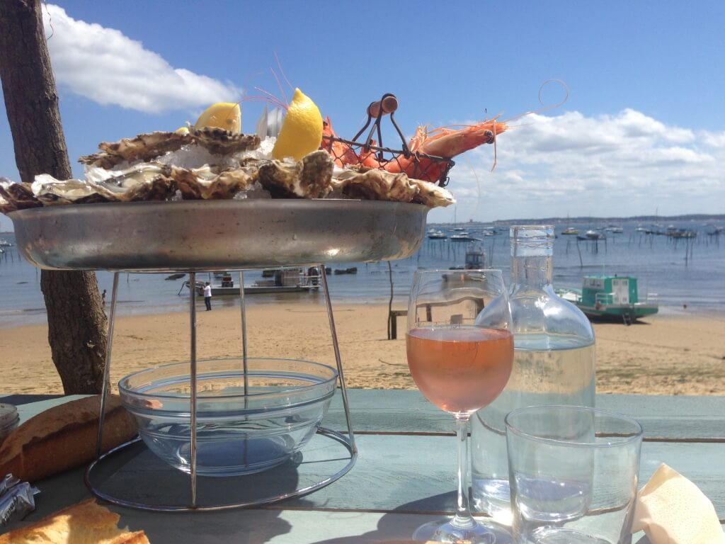 restaurant Cap Ferret oysters wine seafood