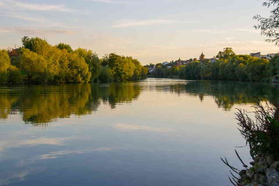 The Marne River at Sunset