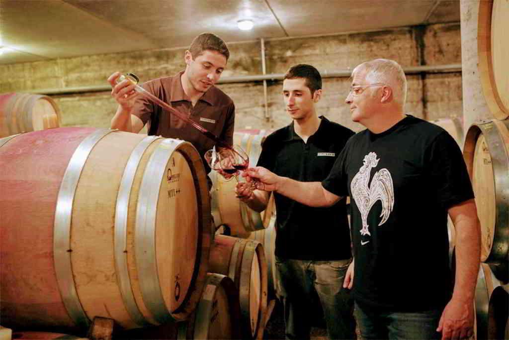 wine barrel and dripper