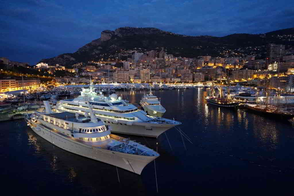 Private yacht experience monaco port night